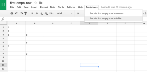 spreadsheet-first-empty-row